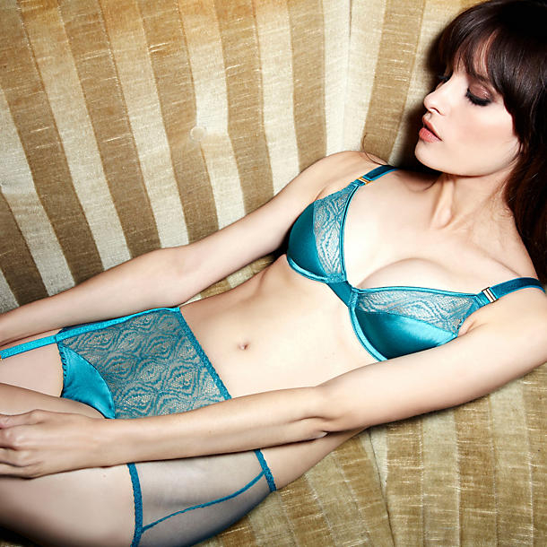 Fleur of England Emerald High Waisted Suspender Shortie
