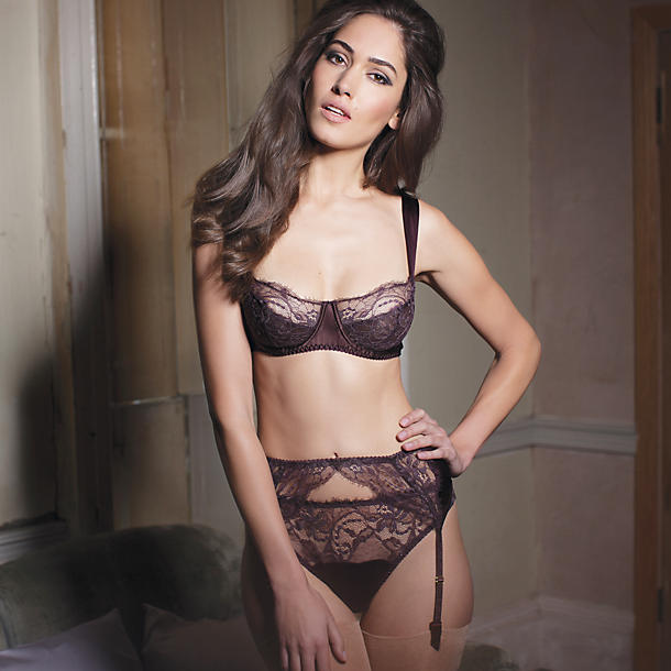 Fleur of England Hot Chocolate Lace Balcony Bra