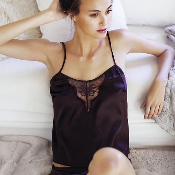 Fleur of England Hot Chocolate Silk Camisole