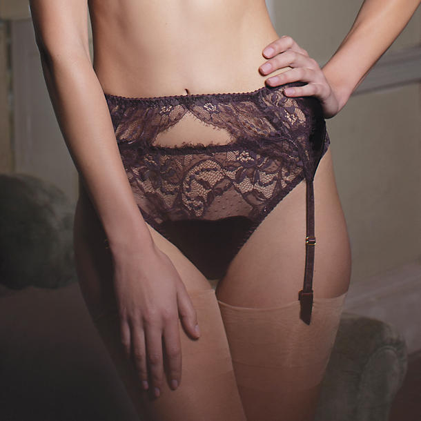 Fleur of England Hot Chocolate Suspender Belt