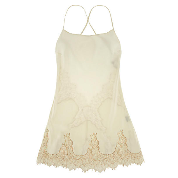 La Fee Verte Silk And Lace Chemise