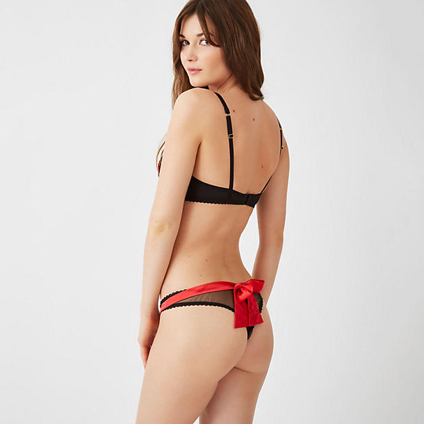 Mimi Holliday Cherry Drop Bow Back Thong