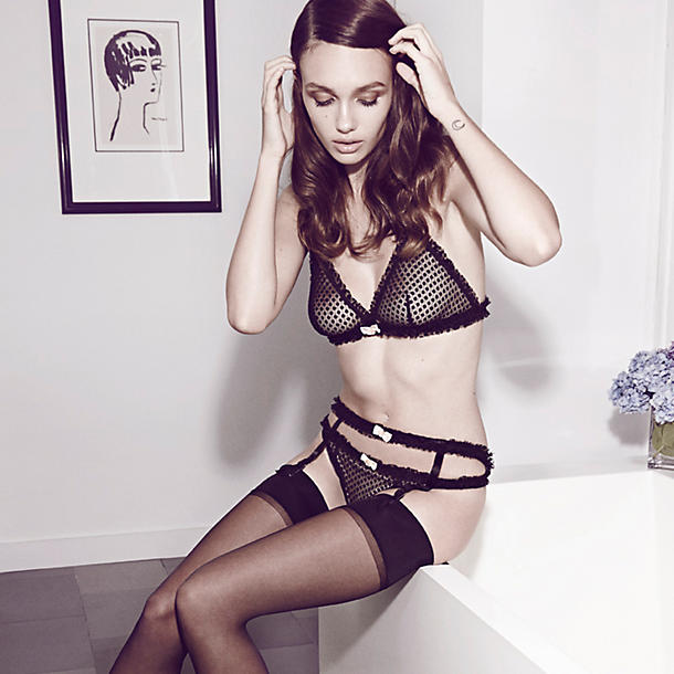 Morgan Lane Frenchy Le Vonne Liza Garter Belt