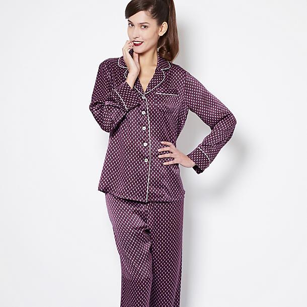 olivia von halle lila mira pajama set pajamas journelle. Black Bedroom Furniture Sets. Home Design Ideas
