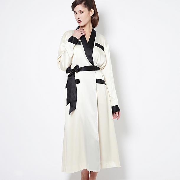olivia von halle lena long robe robes journelle. Black Bedroom Furniture Sets. Home Design Ideas