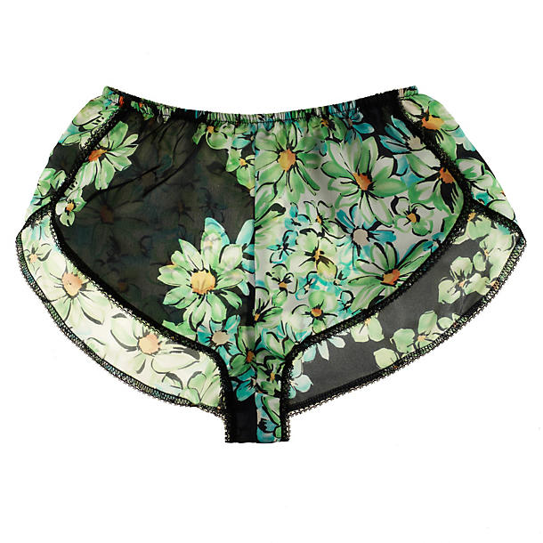 Only Hearts Green Daisy Petal Boxer