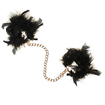 Maison Close Les Menottes Volupte Feather and Chain Cuffs