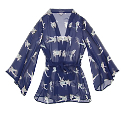 Beautiful Bottoms Oriental Bird Short Night Robe
