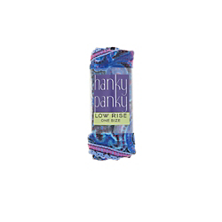 Hanky Panky Blue Paisley Low Rise Thong (Rolled)