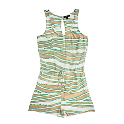La Fee Verte Silk Zebra Open-Back Romper