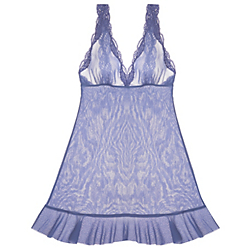 Only Hearts Tulle with Lace Ruffle Hem Chemise