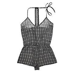 Only Hearts Black Ink Playsuit