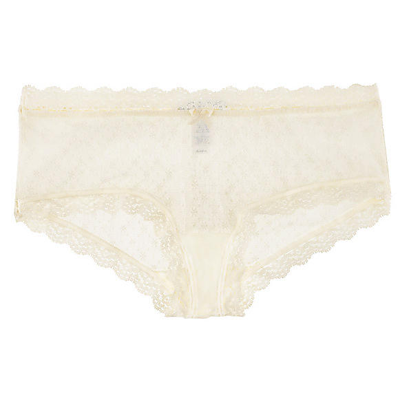 Eberjey Delirious French brief,  Size S/M - Ivory Classically French, perfectly flirty, and totally wearable, these low-slung lacy knickers are what Brigitte Bardot would have as her go-to basic. Effortlessly lovely, non?