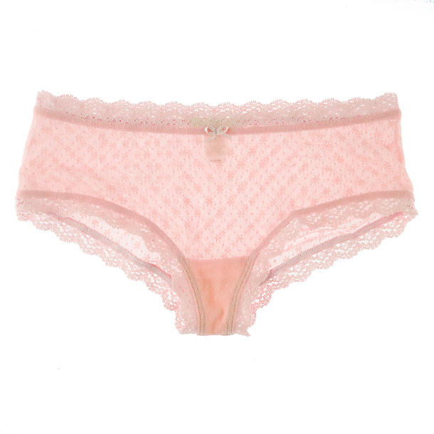Eberjey Delirious French Brief,  Size S/M - Sorbet Pink Classically French, perfectly flirty, and totally wearable, these low-slung lacy knickers are what Brigitte Bardot would have as her go-to basic. Effortlessly lovely, non?