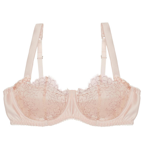 Fleur of England Allure Balcony Bra Powder Pink