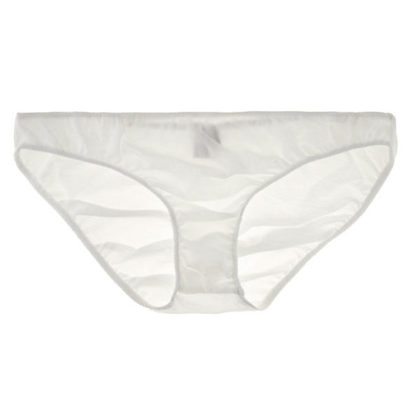 Only Hearts Organic Cotton French Bikini,  Size Large - White Whisper sheer 100% sustainably produced cotton and alow-slung hipster-bikini silhouette mean perfect comfort and minimal lines. Perfection like this happens organically.