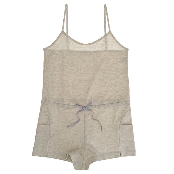 Only Hearts French Terry Playsuit,  Size Large - Grey This deliciously soft, cottony French Terry teddy playsuit is just begging for a pool, a party, and some company. Oh, cabana boy, our piña colada is getting desperately low.