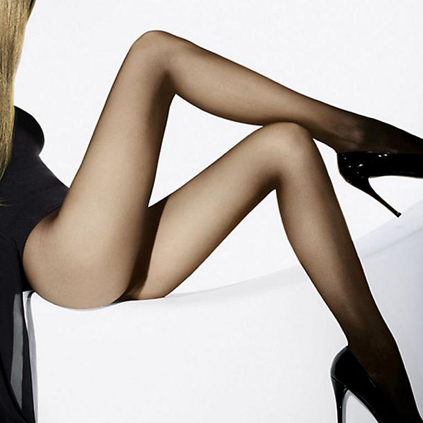 Wolford Individual 10 Sheer Tights(Sand, S),  Size S - Sand With a silky smooth feel that has us crossing and uncrossing our legs for hours, these supremely sheer, stunningly supple, subtly firming and shaping stockings are classically lovely.