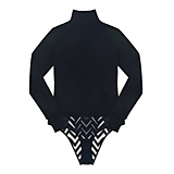Else Chevron Cashmere Blend Long Sleeve Bodysuit