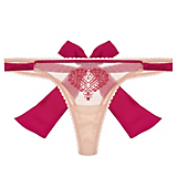 Mimi Holliday Wild Strawberry Back Bow Thong