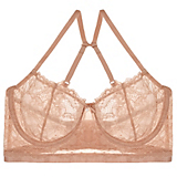 OnGossamer Beautifully Basic Lace Unlined Crop Bustier