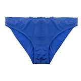 Timpa Duet Lace Low-Cut bikini(Electric Blue, L)