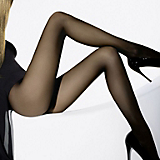 Wolford Individual 10 Sheer Tights(Black, L)